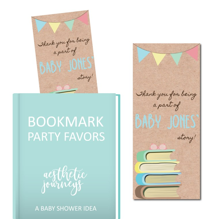 Bookmark party favors