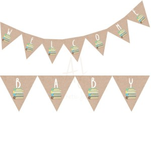 Book Themed Banner for Baby Shower