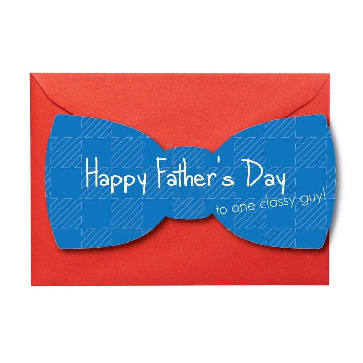 Bow Tie Father's Day Card