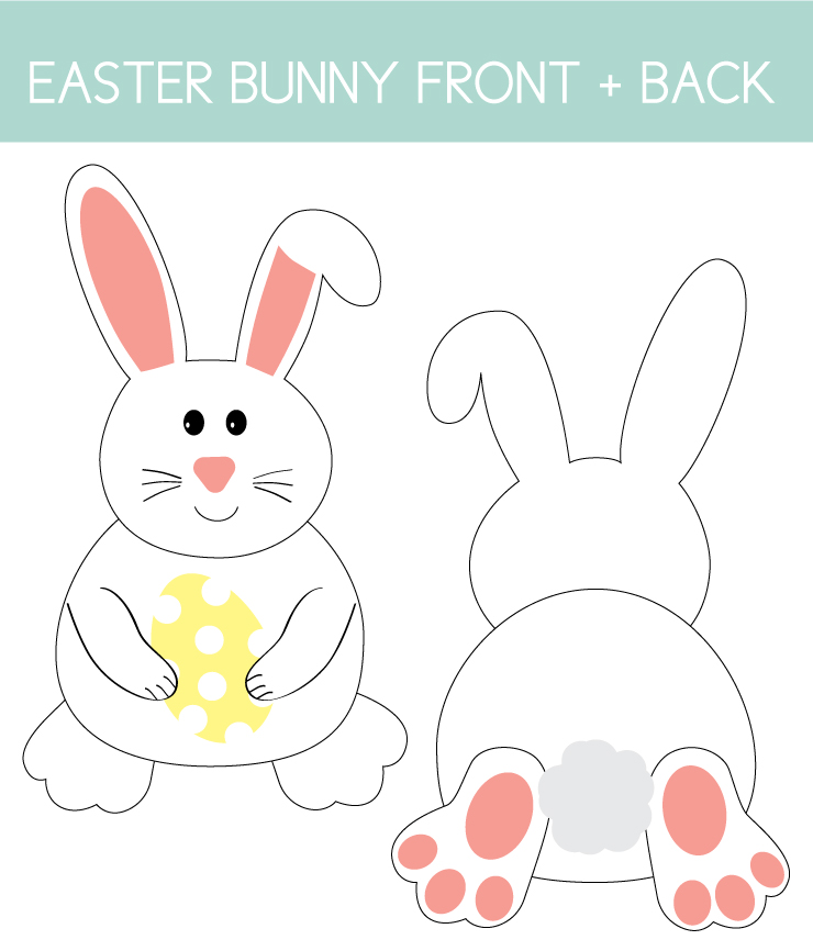 Easter Bunny Front and Back