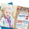 Burlap, Mason Jar Party Invitation with Envelopes | Printed Birthday Invites with Envelopes | Custom Colors Available
