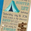 Camping Themed Party Invitation with Envelopes   Printed Birthday Invites and Color Envelopes   Custom Colors Available