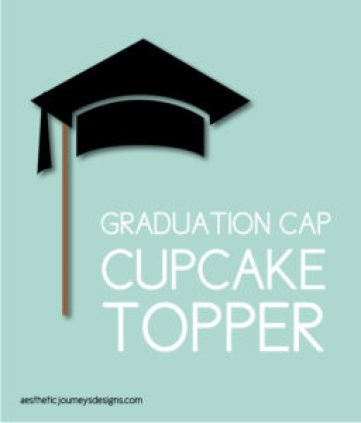 Graduation Cap Cupcake Topper
