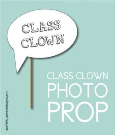 Class Clown Photo Prop
