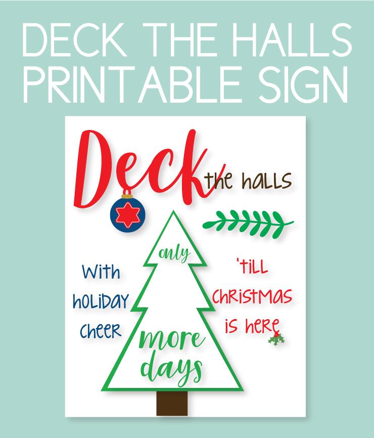 Printable countdown to deck the halls sign