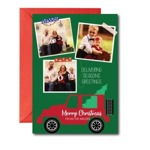 Holiday Photo Card with Delivering Seasons Greetings