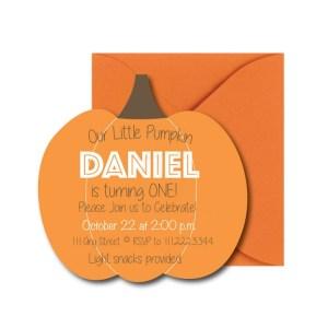Pumpkin Party Invite