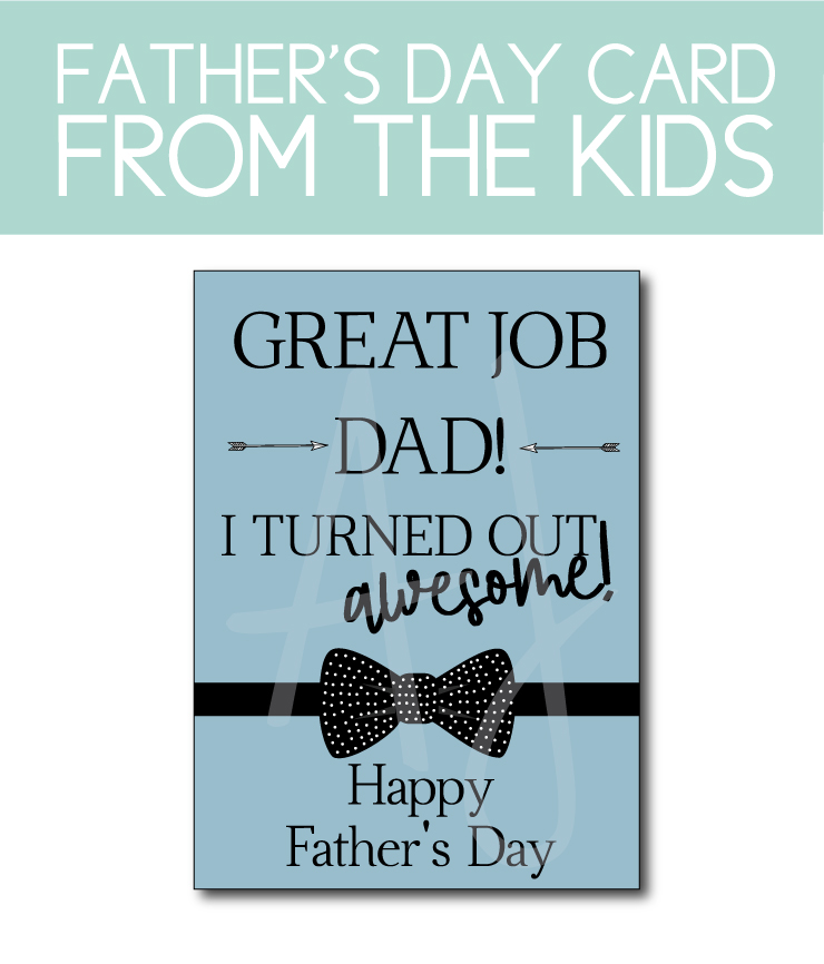 Father's Day Card from the Kids