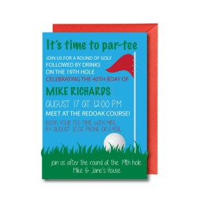 Golf Party Invite