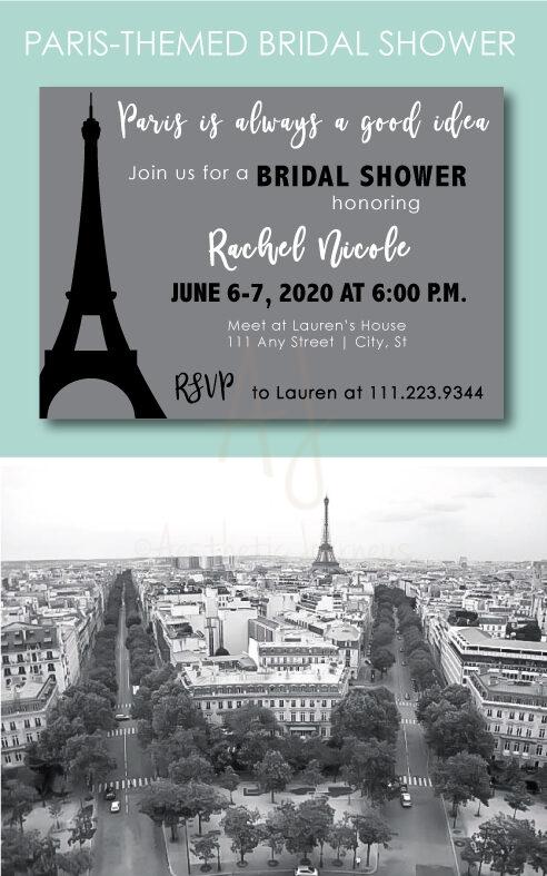 Paris Themed Bridal Shower Ideas