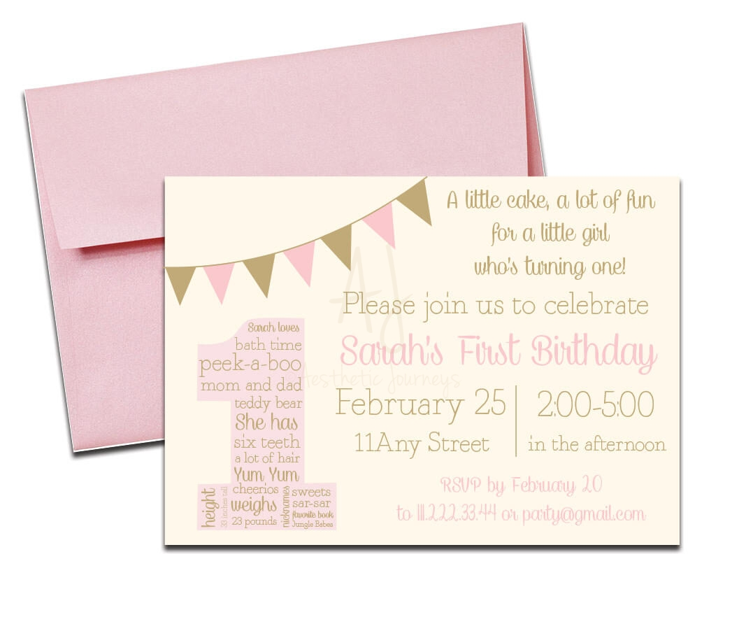 pink and gold birthday party invite envelopes