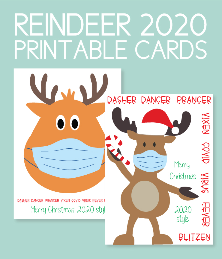 Reindeer themed holiday cards