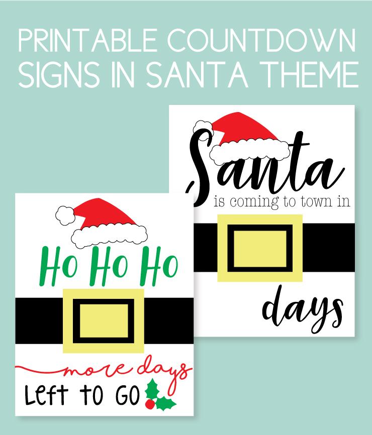 Santa instant download countdowns