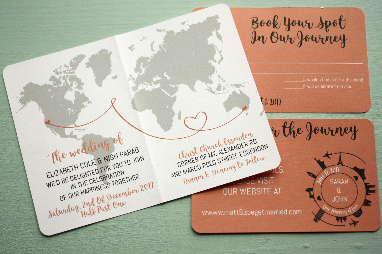 Travel Wedding Invitation #JE31 – Advancedmassagebysara