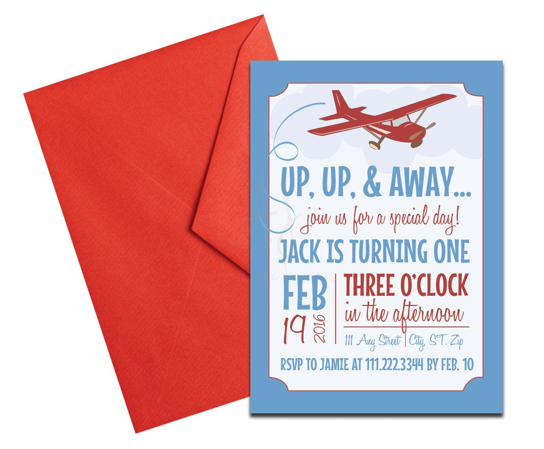 Airplane themed travel party invite envelopes travel themed party invitation with envelopes printed birthday invites and color envelopes custom colors filmwisefo