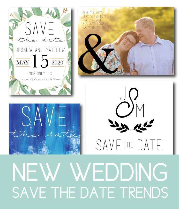 Wedding save the date trends for 2020