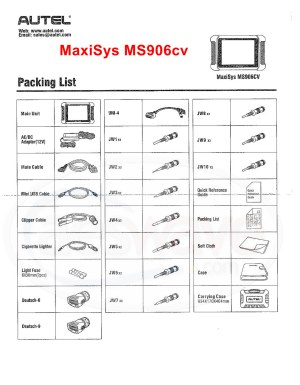 Autel MaxiSys MS906CV HD Service and All Systems Diagnostics