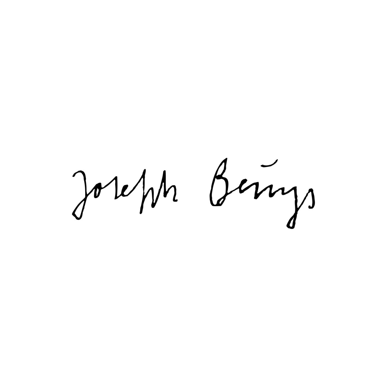 signature de l'artiste de l'art contemporain joseph beuys