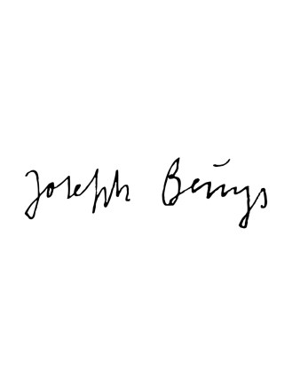 signature de l'artiste de l'art contemporain joseph beuys