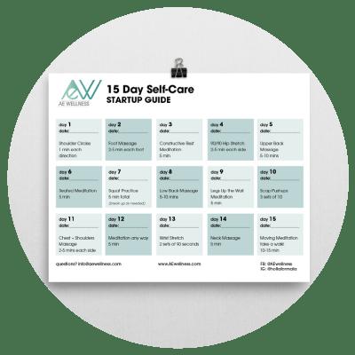 self care startup guide ae wellness calendar and journal