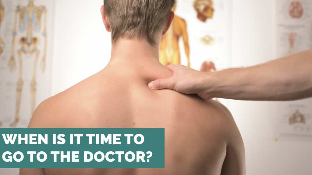 doctor hand shoulder when is it time to go to a doctor for an injury?