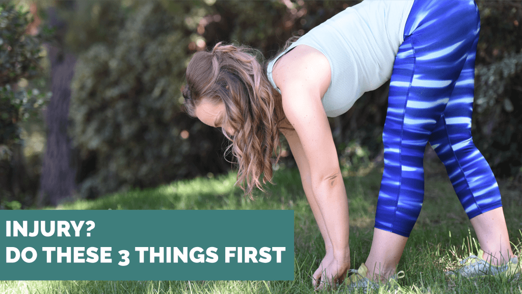 stretching girl blue pants injury do these three things first