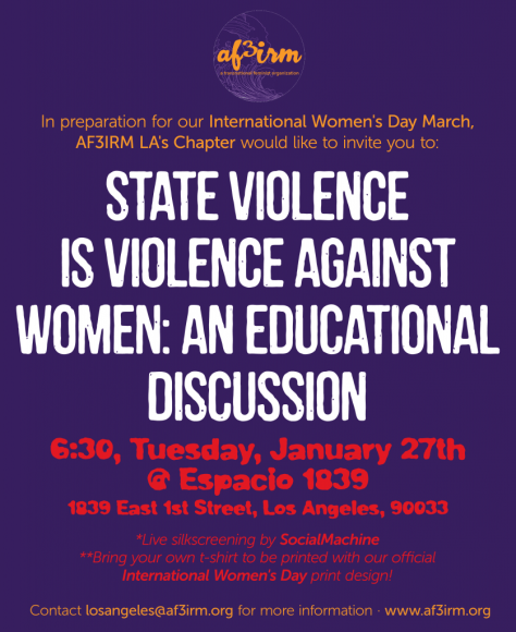 State Violence is Violence Against Women