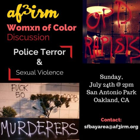 Womxn Discussion on Police Terror and Sexual Violence