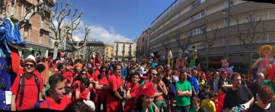 Exit de participació a la XVIII trobada de gegants i capgrossos d'escoles de Catalunya