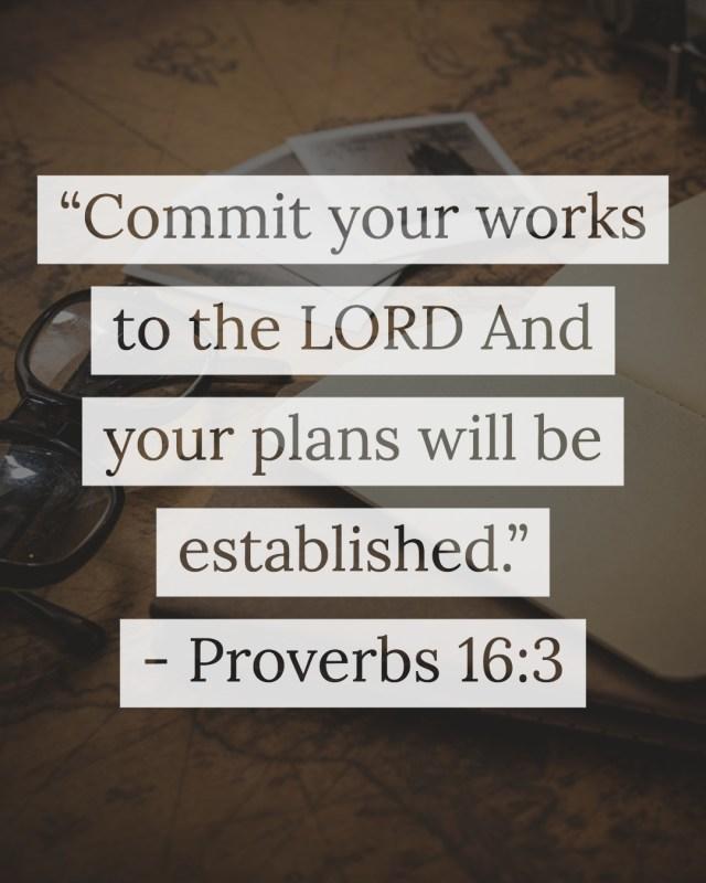 Proverbs 16:3