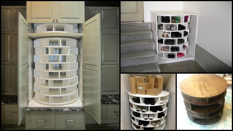comment construire un rangement chaussures rotatif soi m me trucs et astuces faire la. Black Bedroom Furniture Sets. Home Design Ideas