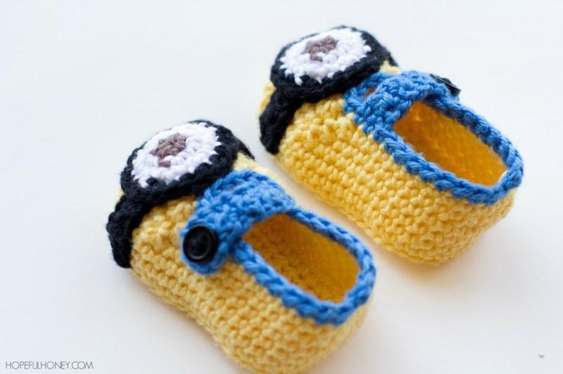 Chaussons-Minion-Pour-Bébé-Crochet-1