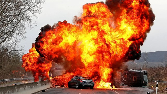 A spectacular 40-ton explosion