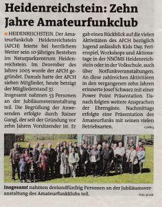 10 Jahre AFCH Bezirksblatt Gmünd 19 2016