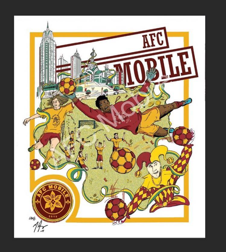 A picture of inaugural season poster.