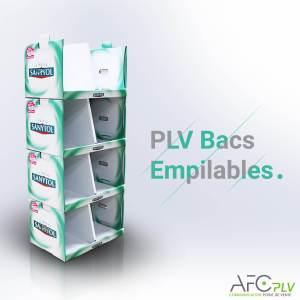 PLV Bacs Empilables Sanytol