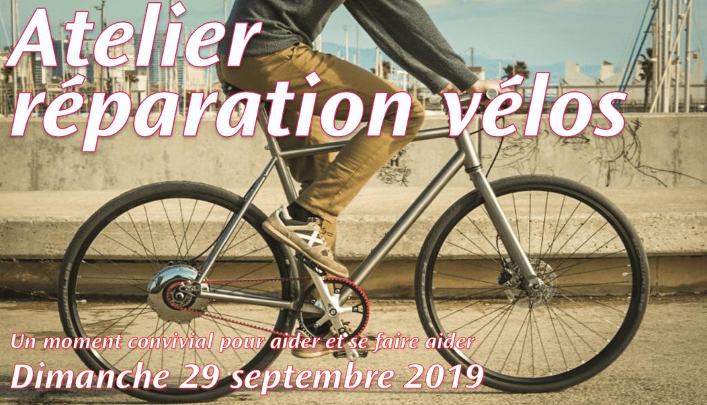 Atelier réparation vélo dimanche 29/9 après midi