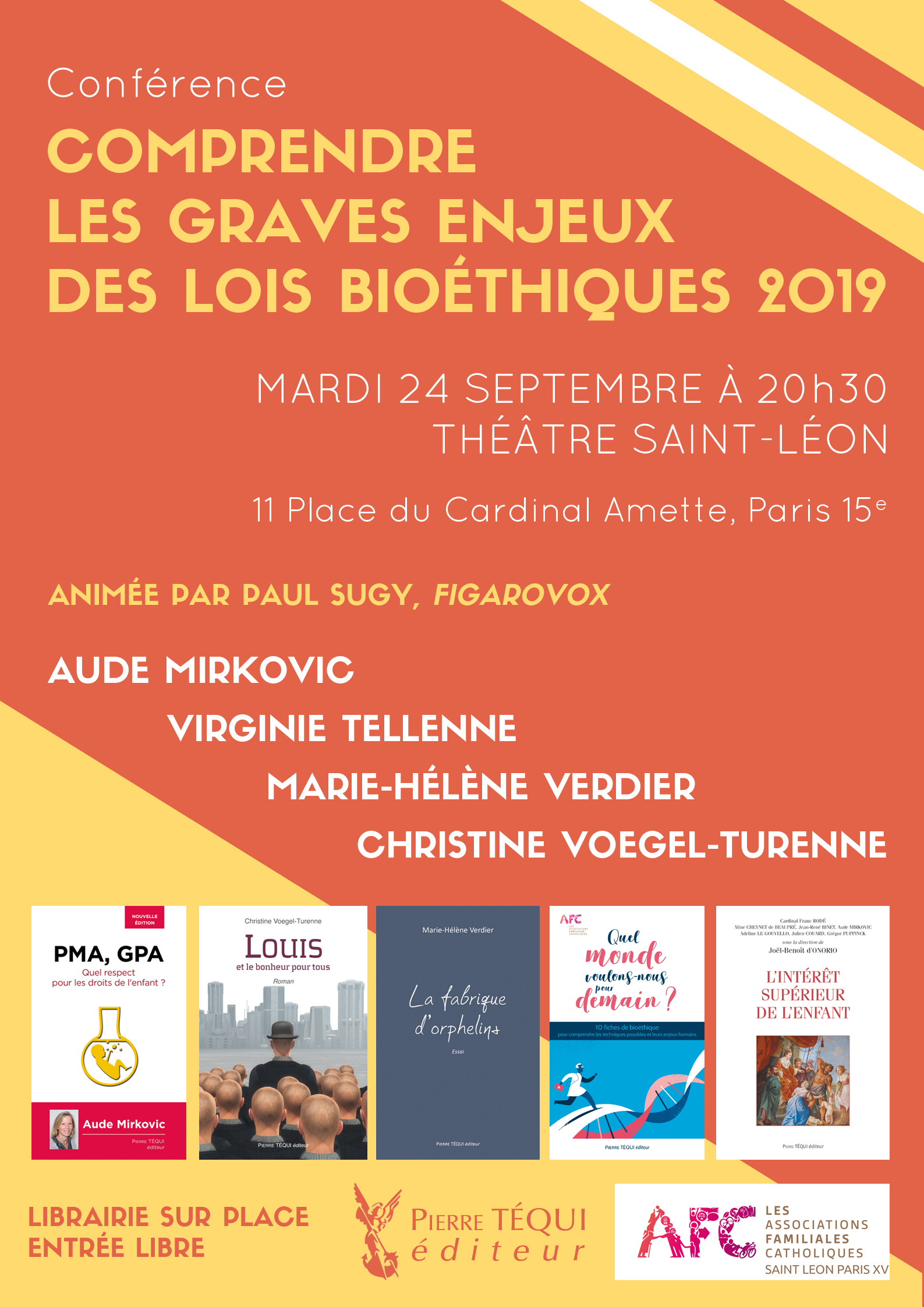 Conférence Bioéthique mardi 24 septembre