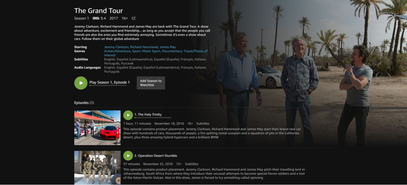 The Grand Tour - Amazon Prime Video