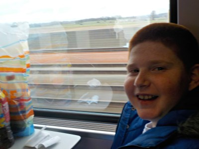 On the train to Brugge