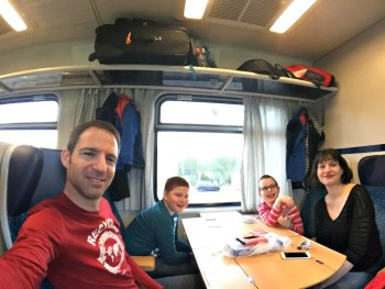 Train ride from Czech to Austria