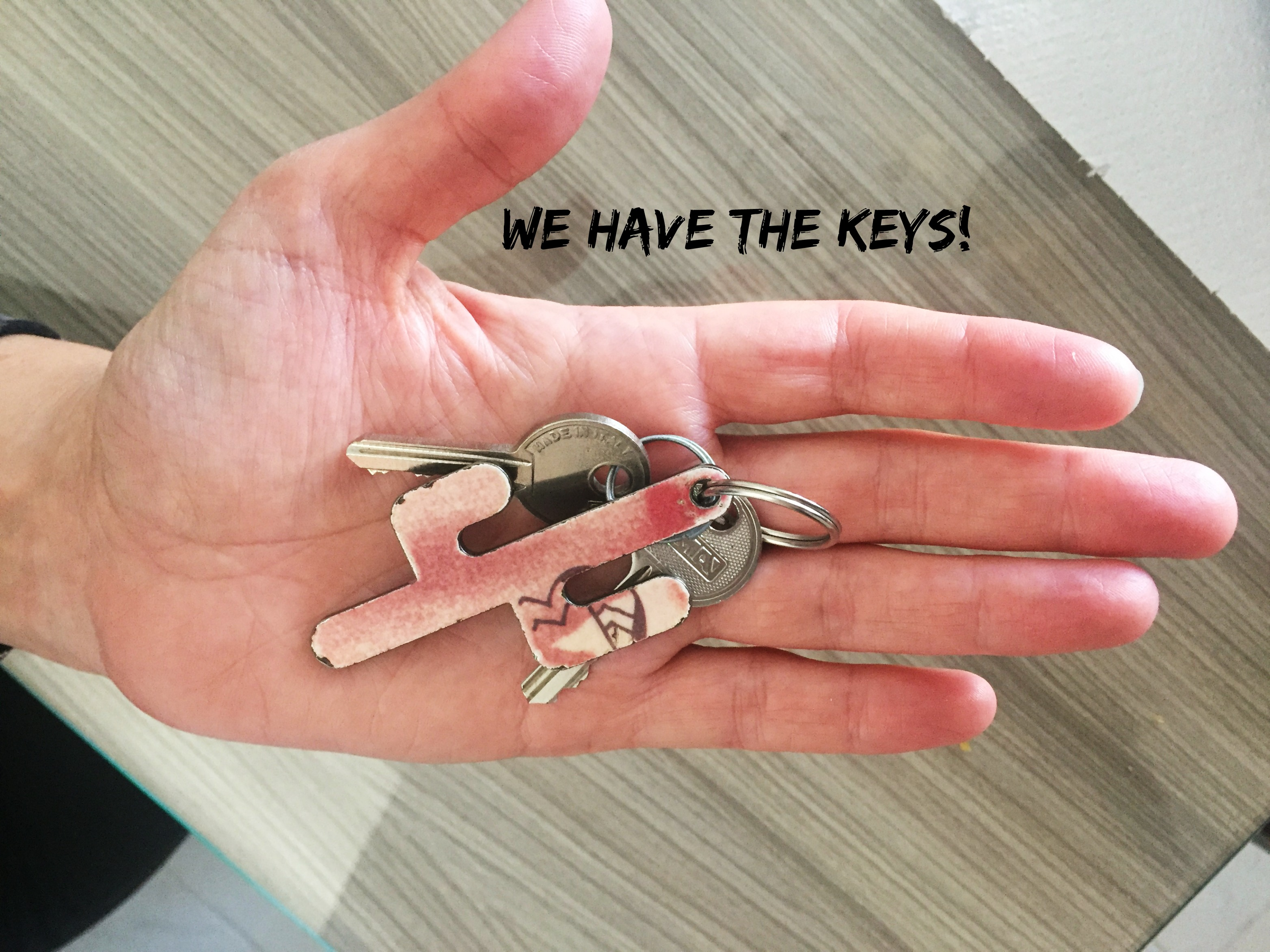 We have keys (and our first power outage)
