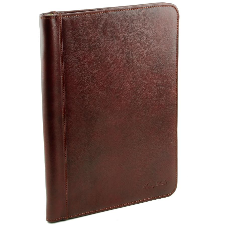 Conf    rencier Porte document Cuir  Tuscany Leather  Conf    rencier Porte document Cuir Marron  Tuscany Leather