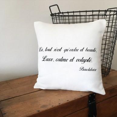 Coussin citation Baudelaire