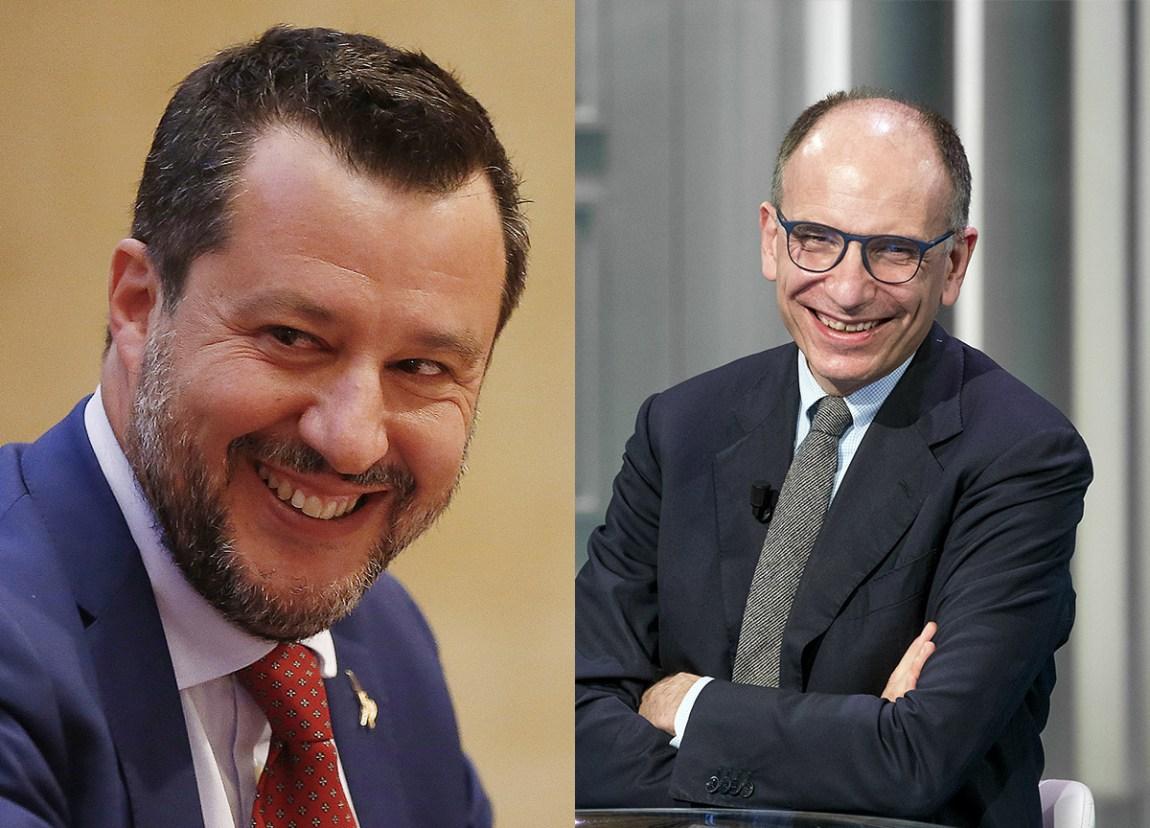 photo Salvini Letta