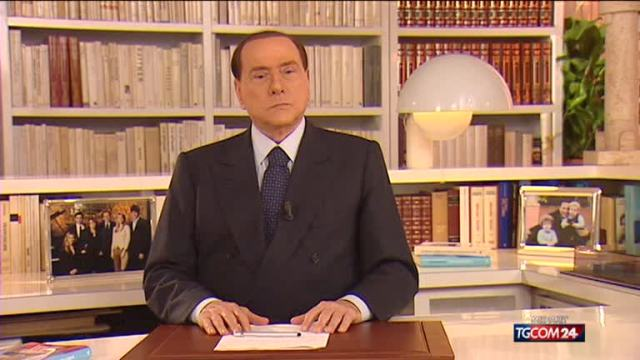 video mediaset berlusconi videomessaggio