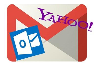 Gmail Yahoo! Outlook 比較