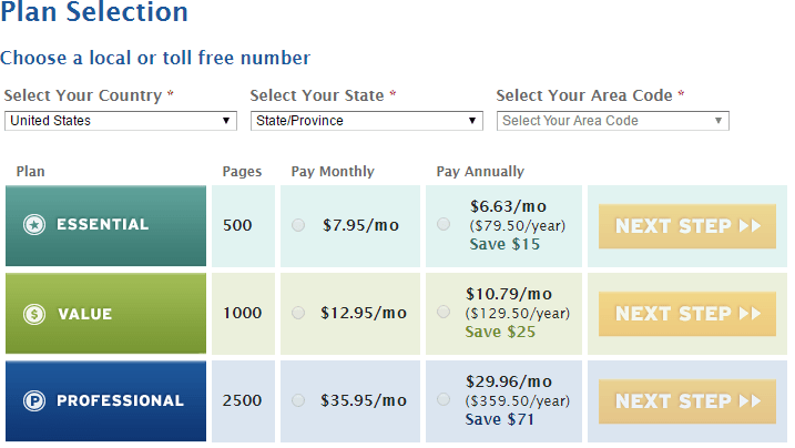 metrofax pricing