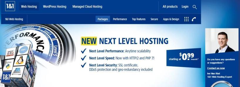 1&1 hosting- Best Web Hosting Providers In Europe