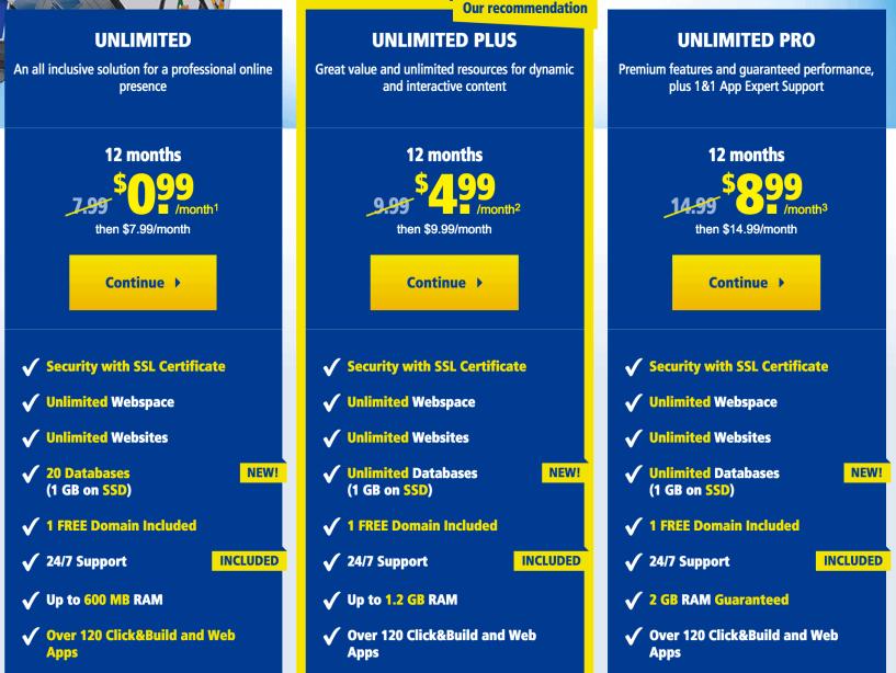 1&1 Web Hosting price- Best Web Hosting Providers In Europe